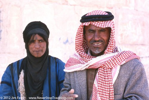 Beduoin and wife, Quseir Amra, Jordan