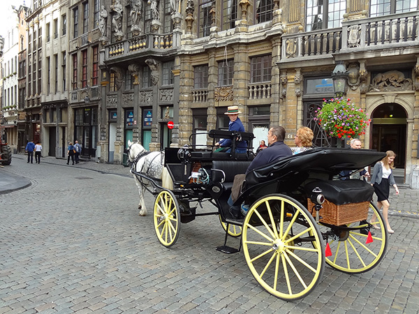 Foto Friday - a horse-drawn cart on a cobblestone street
