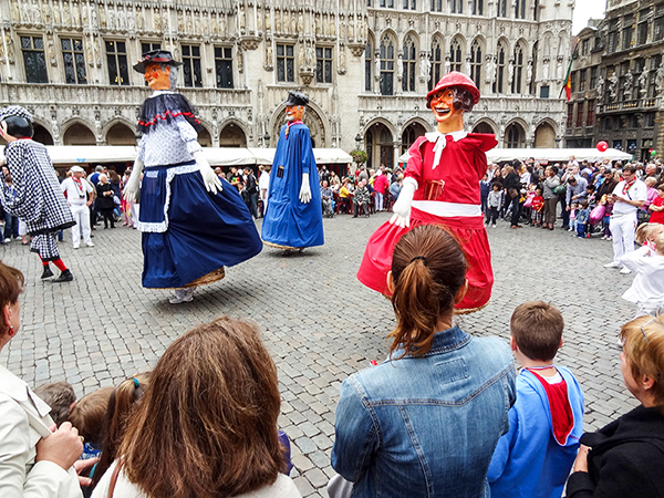Foto Friday - people at a street festival in Belgium
