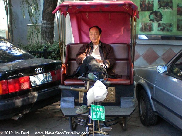China-Pedicab driver, Beijing