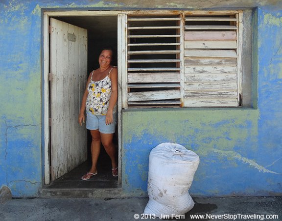 Foto Friday - a woman in her house,  Baracoa, Cuba
