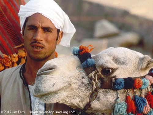 Foto Friday - a camel driver and camel, Ginza, Cairo, Egypt