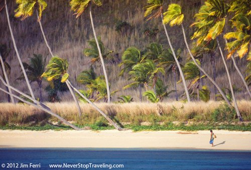 Foto Friday - a woman on a beach in the Yasawa Islands, Fiji
