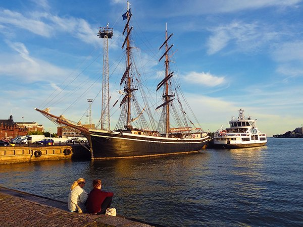 Helsinki harbor, Finland