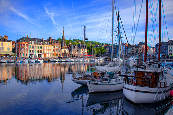 Foto Friday - boats in the harbor in Honfleur, France