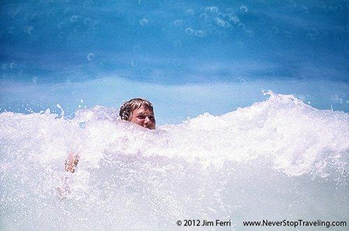 Seychelles, body surfer