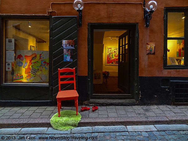 Foto Friday - Sweden - Art gallery in Gamla Stan, Stockholm-B
