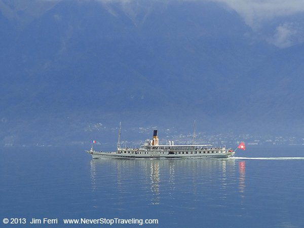 Lake Geneva ferry, Switzerland