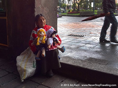 Foto Friday - A woman selling dolls in Quito, Ecuador