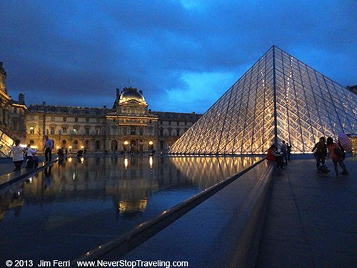 I M Pei's Pyramid,  Louvre, Paris, France