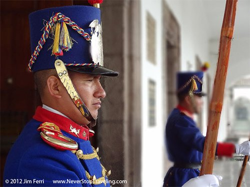 Presidential Guards, Quito, Ecuador