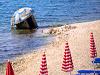 Albania - bunker on beach
