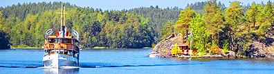 Finland lake steamer