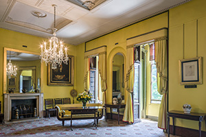 a yellow room