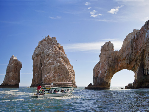 a boat in the water at one of top 10 places in Mexico