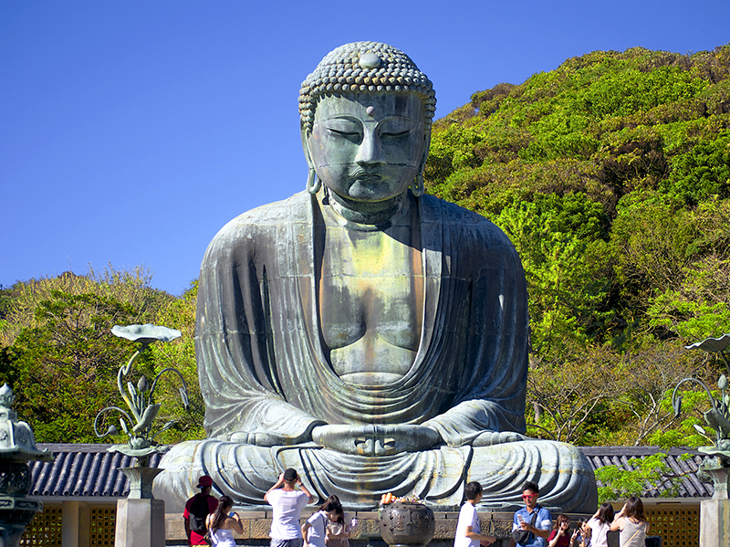 a giant statue of Buddha