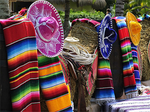 Sombreros at one of the top 10 places in Mexico