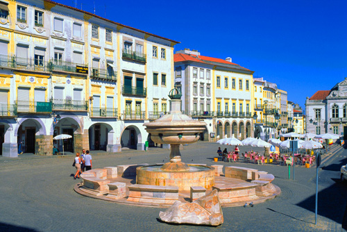 a town square in Portugal