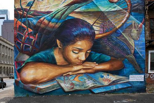 Art in philadelphia the city is awash in art just about for Dr j mural philadelphia
