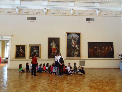 School children in the National Gallery Ljubljana