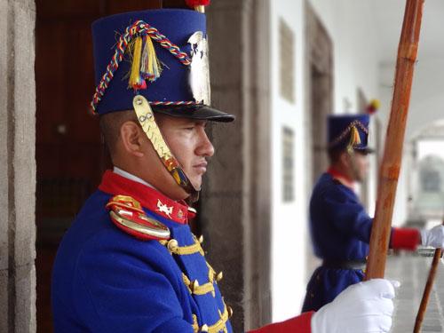 Guards at the Presidential Palace, Quito, Ecuador