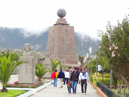 La Mitad del Mundo (Middle of the World), north of Quito, Ecuador