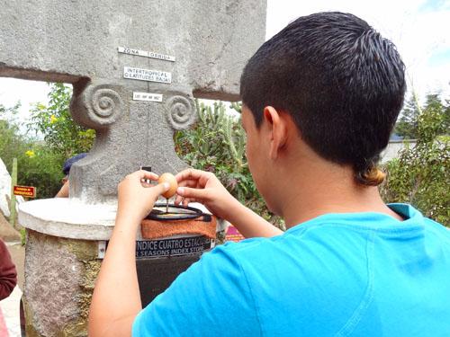 The Inti Nan equator museum north of Quito, Ecuador
