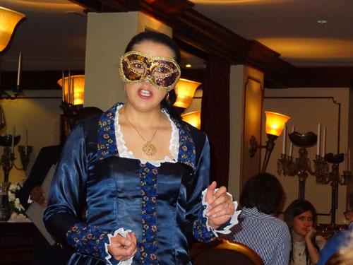 Arias in the restaurant of the Hotel Plaza Grande, Quito, Ecuador
