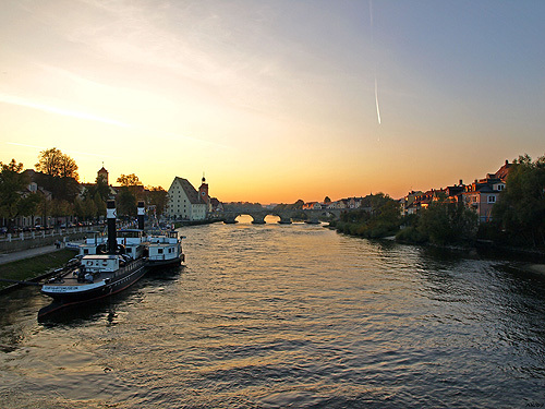 The Danube and Regensburg's Stone Bridge Regensburg