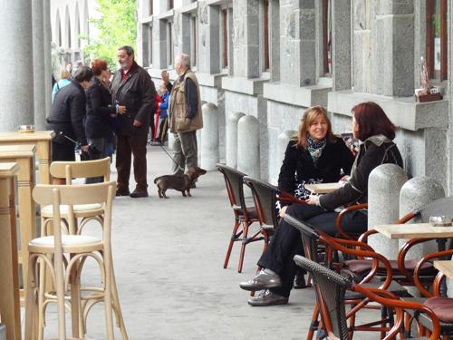Cafe in the Market Colonnade Ljubljana