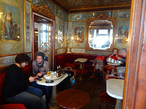 A side room along the square in Caffè Florian St. Mark's Square