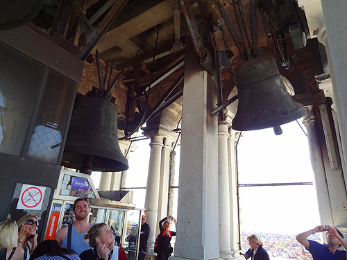 Bells pealing on the hour in the Campanile St. Mark's Square