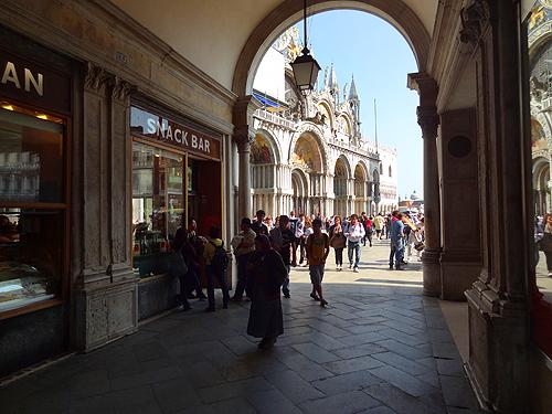Entrance into the square below the Torre dell'Orologio St. Mark's Square