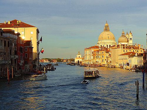 Late afternoon on the Grand Canal Venice