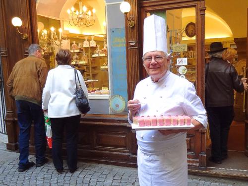 Chef Erich Winkler at Schatz-Konditorei