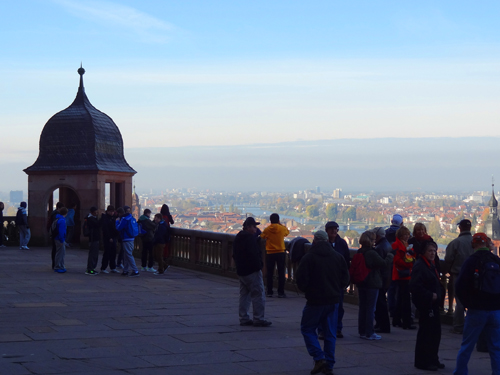 View from the castle terrace in Heidelberg