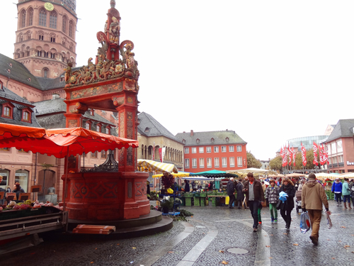 Town Square market in Mainz Cruising on the Great Rivers of Europe