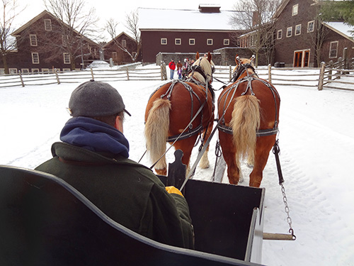 Sleigh ride at the Billings Farm & Museum