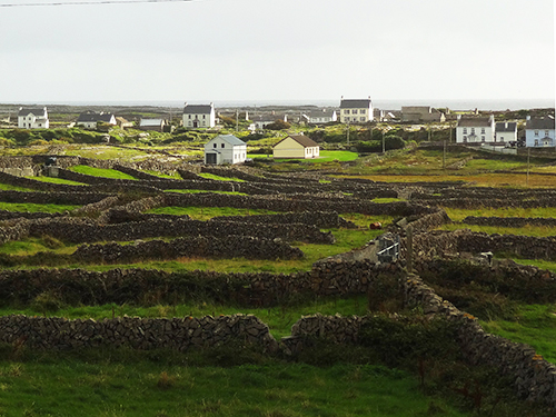 View across the island from my room at the Beach View House Aran Islands