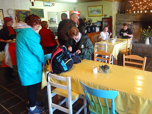 Late morning breakfast at the cafe in Kilmurvey Aran Islands