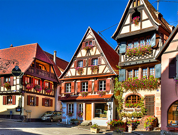 old timbered houses