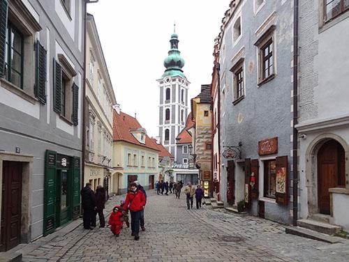 Street in the inner city of Cesky Krumlov