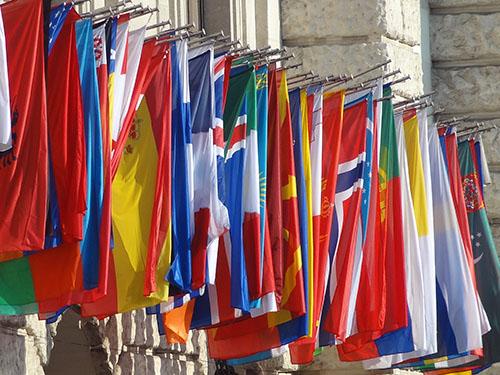 European Union flags / photo: Jim Ferri