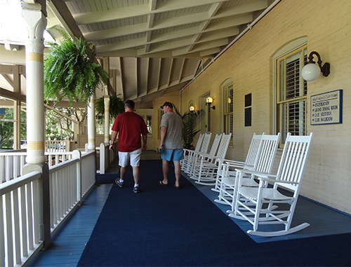 One of the porches of the Jekyll Club