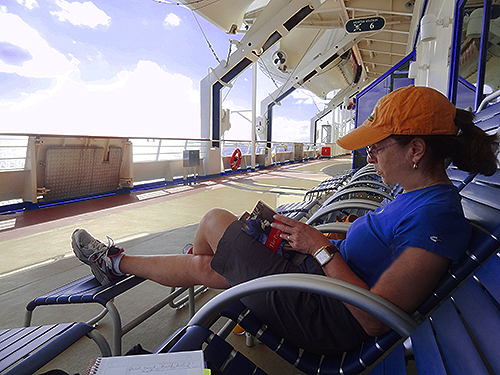 An afternoon on Deck 7 in teh Bahamas