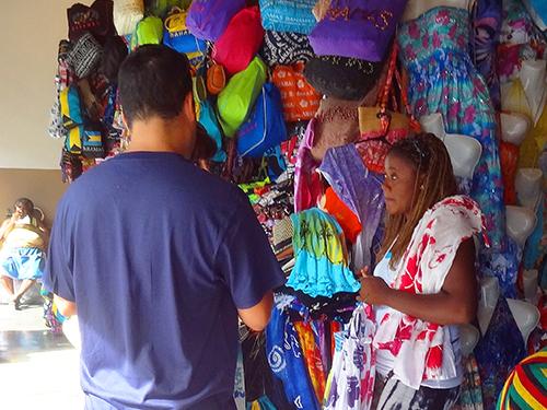 Nassau's Straw Market in the Bahamas