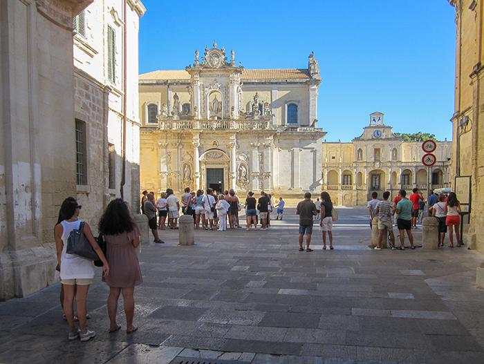 Old Baroque buildings in Puglia, Italy