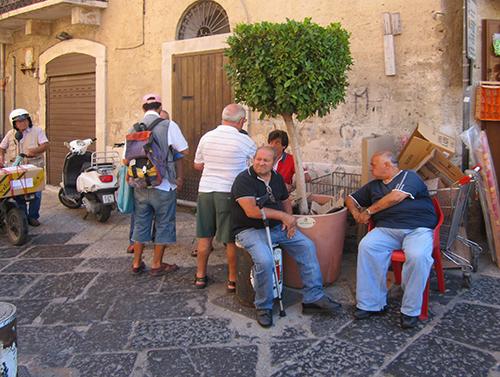 A Bari street corner
