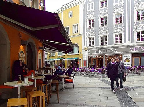 Rindermarkt cafes, Passau