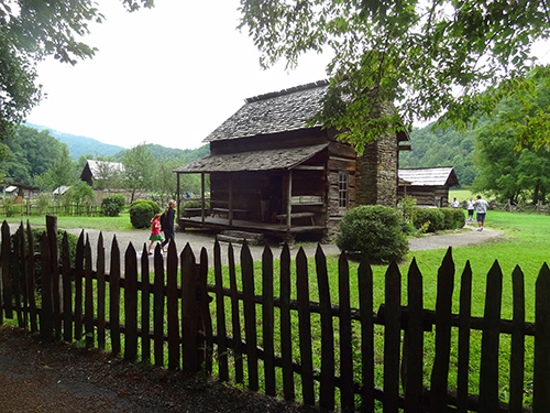 Mountain Farm Museum at the Oconaluftee Visitor Center